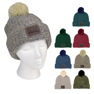 Grace Collection Pom Beanie With Cuff